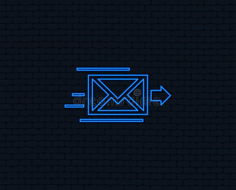 Mail delivery icon. Envelope symbol. Message. stock illustration