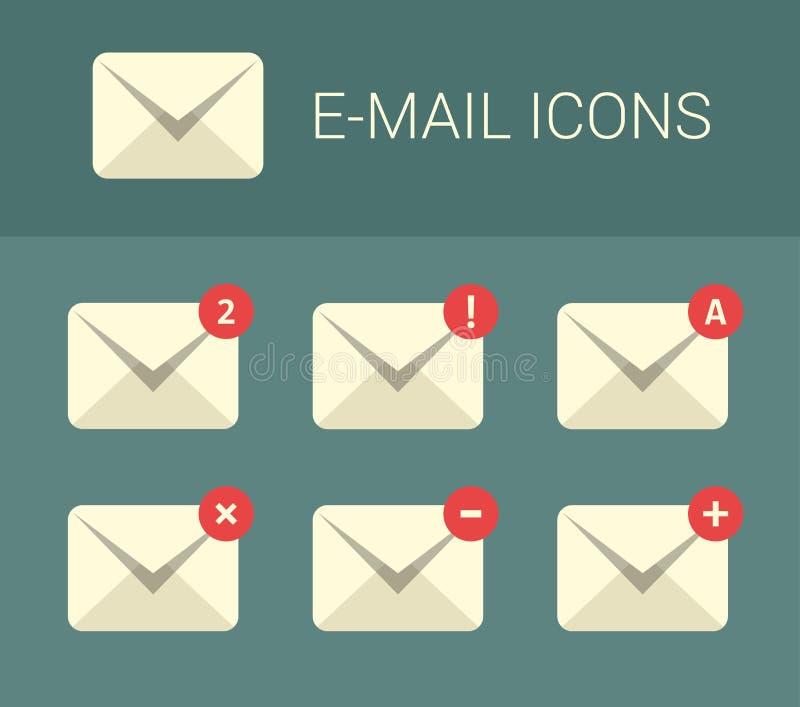 Mail design elements for website stock illustration
