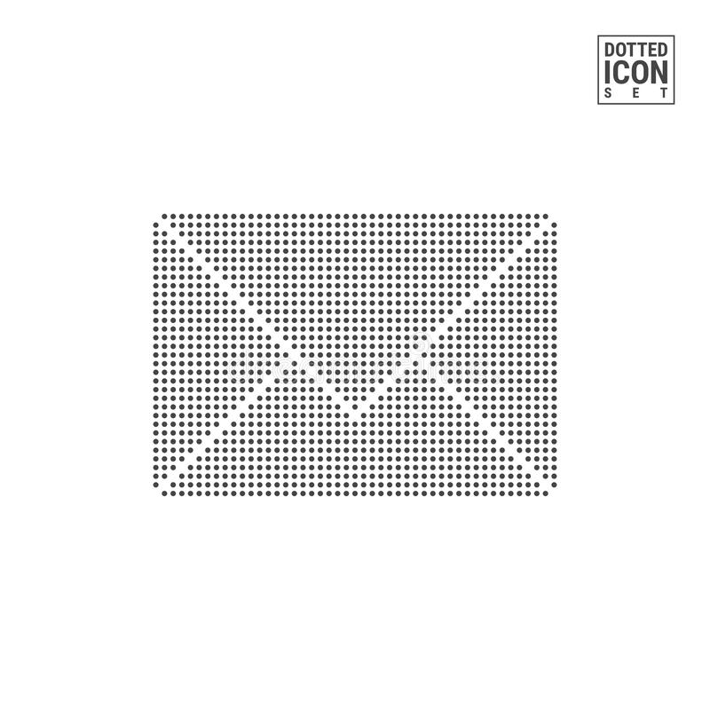 Mail Dot Pattern Icon. E-mail, Envelope Dotted Icon Isolated on White Background. Vector Icon of Mailing royalty free illustration