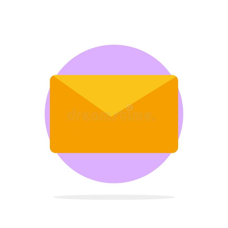 Mail, Email, User, Interface Abstract Circle Background Flat color Icon vector illustration