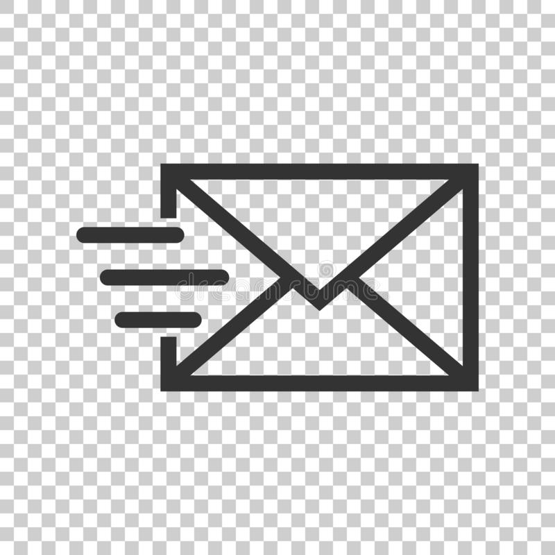 Mail envelope icon in flat style. Email message vector illustration on isolated background. Mailbox e-mail business concept. vector illustration