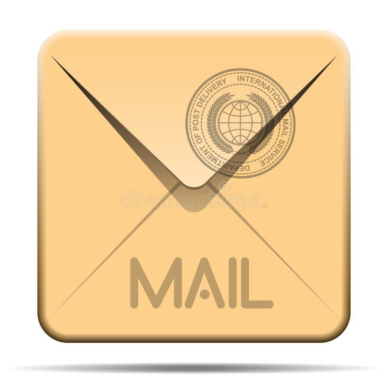Mail Envelope Icon. Square Mail Envelope Icon Illustration vector illustration