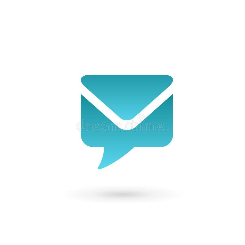 Mail envelope logo icon design template elements royalty free illustration