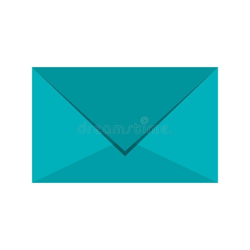 Mail envelope symbol stock illustration
