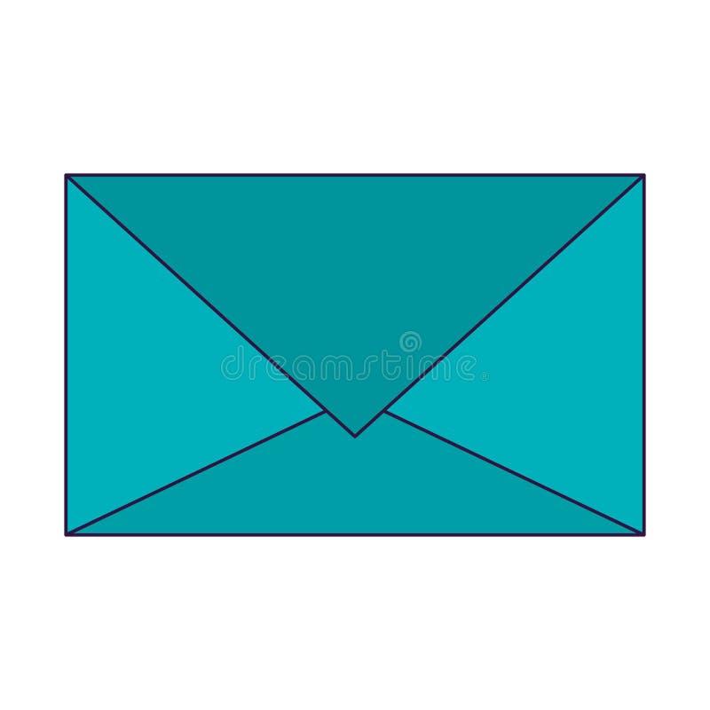 Mail envelope symbol vector illustration
