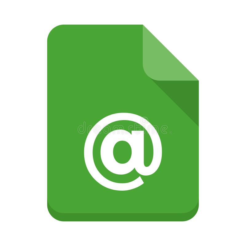 Mail file flat icon vector illustration