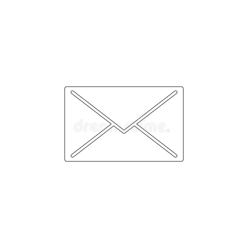 Mail. flat vector icon. Mail. simple flat vector icon illustration. outline line symbol - editable stroke stock illustration
