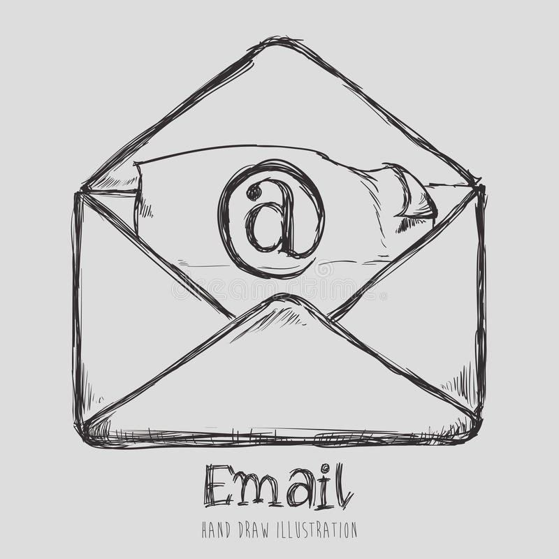 Mail icon design vector illustration eps10 graphic. Mail icon design, vector illustration eps10 graphic royalty free illustration