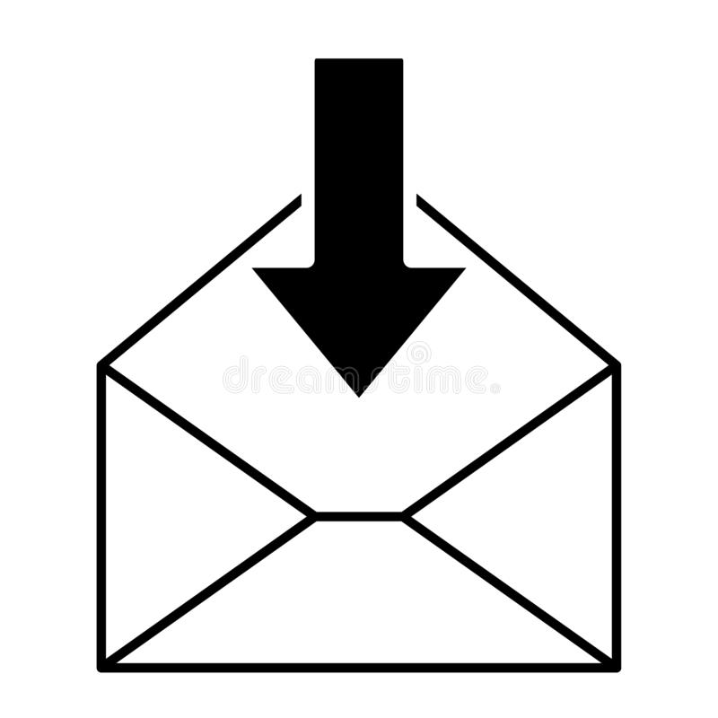Mail icon for design and websites. Message vector illustration trendy symbol.  royalty free illustration