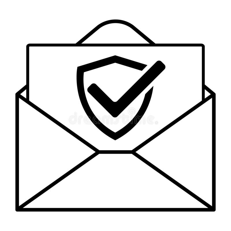 Mail icon for design and websites. Message vector illustration trendy symbol.  vector illustration