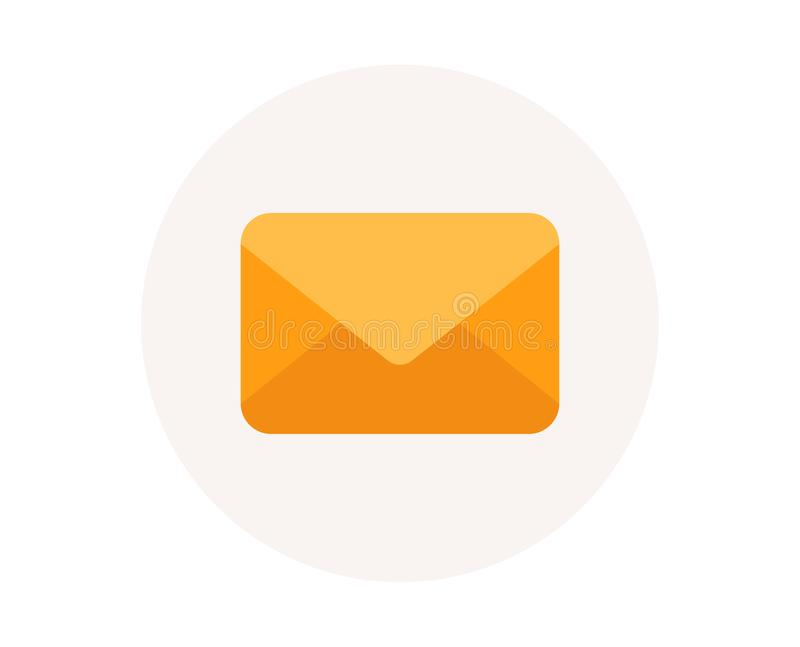 Mail icon. E-mail or Envelope sign. Message symbol. Vector. Mail icon. E-mail or Envelope sign. Send message symbol. Newsletter mail. Post office correspondence vector illustration