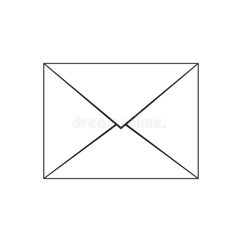Mail icon.Email icon. Black line vector illustration vector illustration