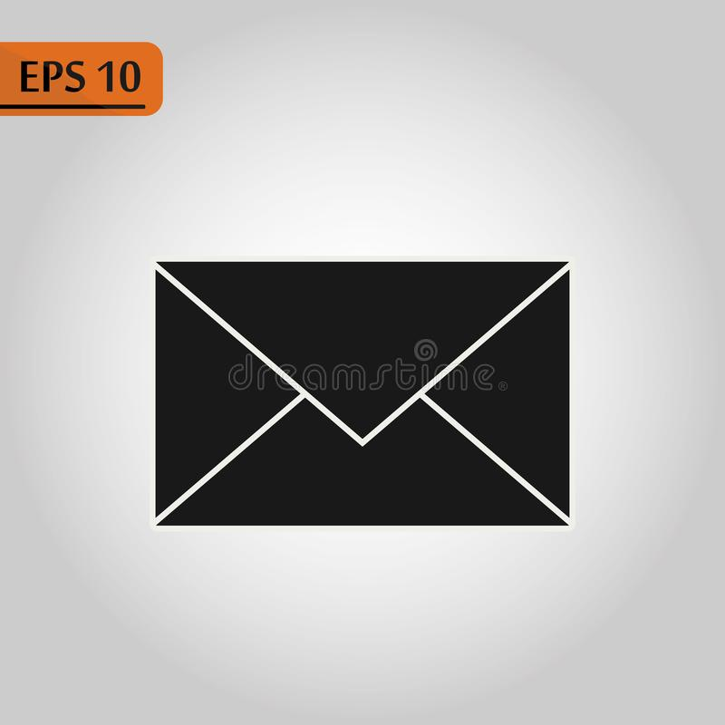 Mail icon. Envelope sign. Vector Illustration. Email icon. Letter icon. Transparent background vector illustration