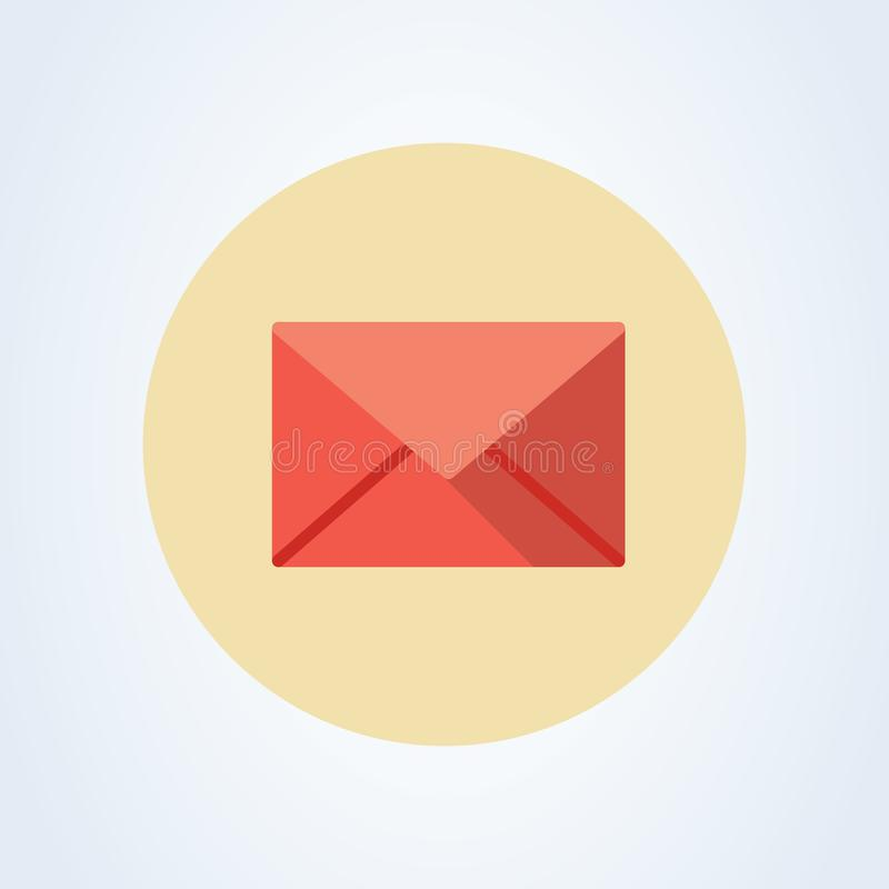 Mail icon. Envelope sign. Vector Illustration. Transparent background. Email icon. Eps 10 vector illustration