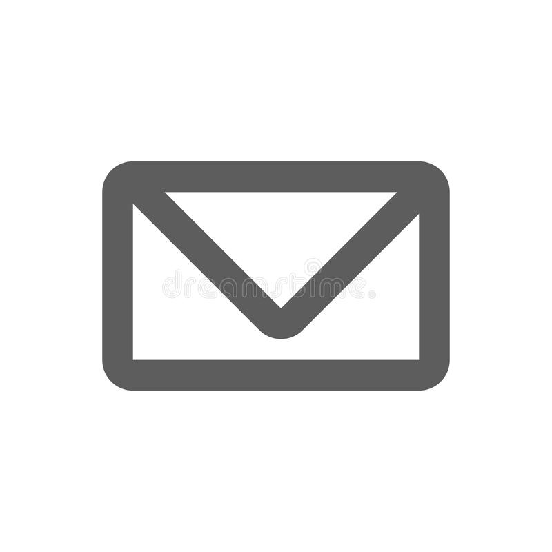 Mail icon isolated on white royalty free stock photography