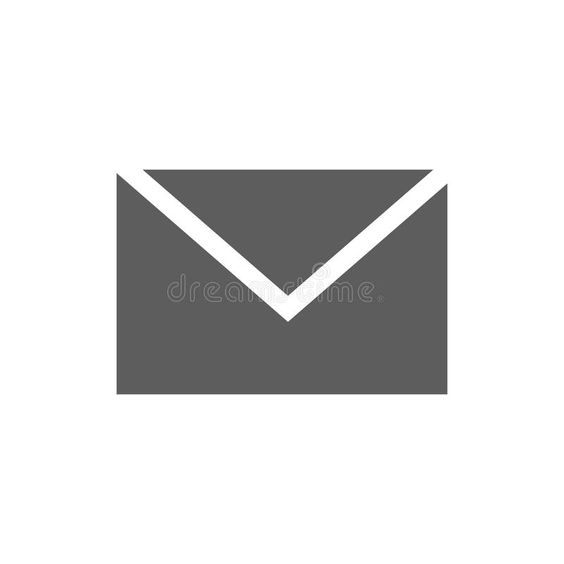 Mail icon isolated on white stock image