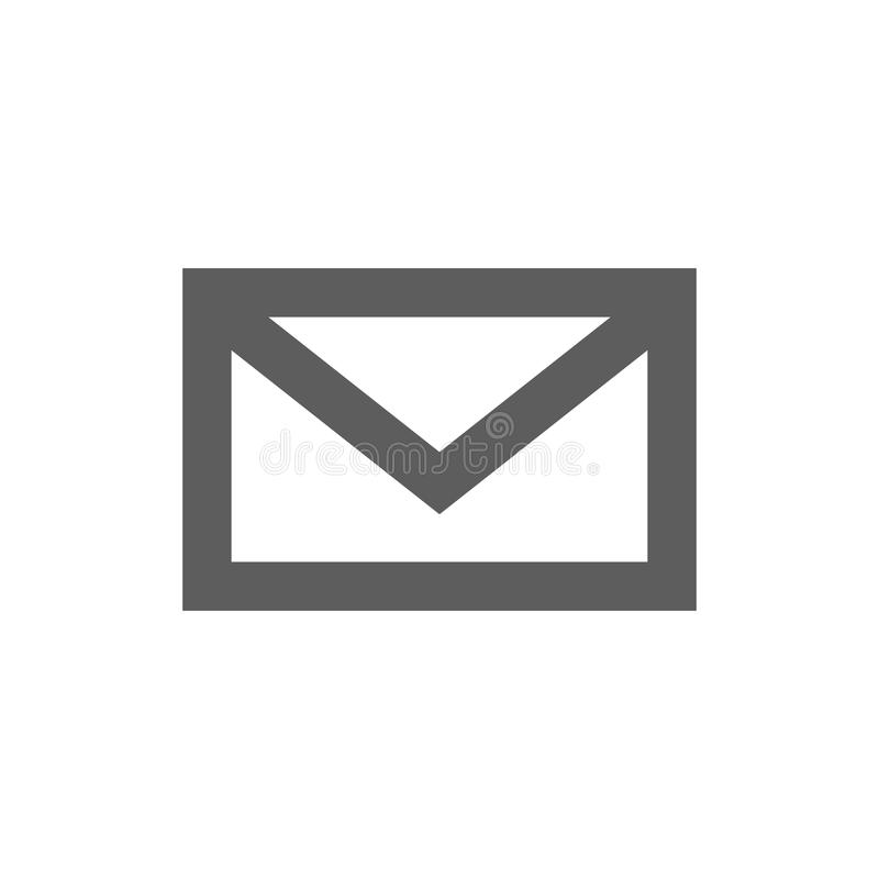 Mail icon isolated on white royalty free stock images