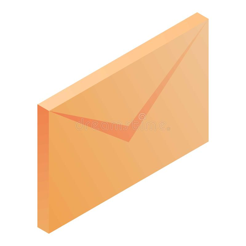 Mail icon, isometric style. Mail icon. Isometric of mail vector icon for web design isolated on white background royalty free illustration
