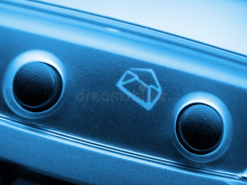Mail icon on keyboard royalty free stock photo