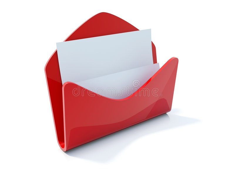Mail icon with letter stock photography