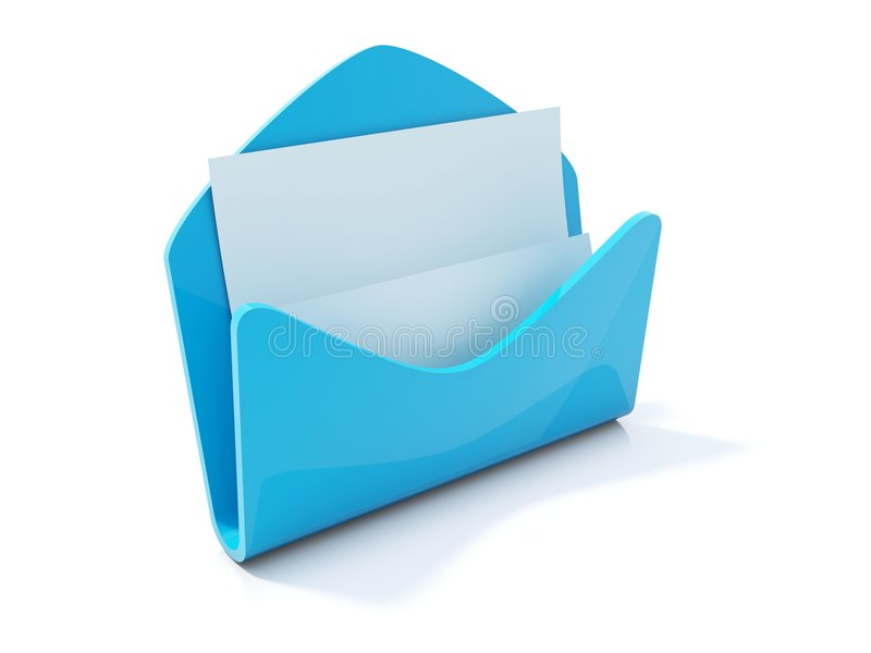Download Mail icon with letter stock illustration. Image of blue - 7804098