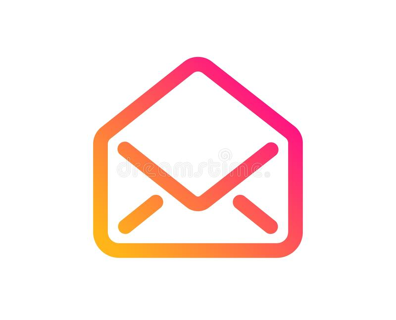 Mail icon. Message correspondence sign. Vector. Mail icon. Message correspondence sign. E-mail symbol. Classic flat style. Gradient mail icon. Vector stock illustration