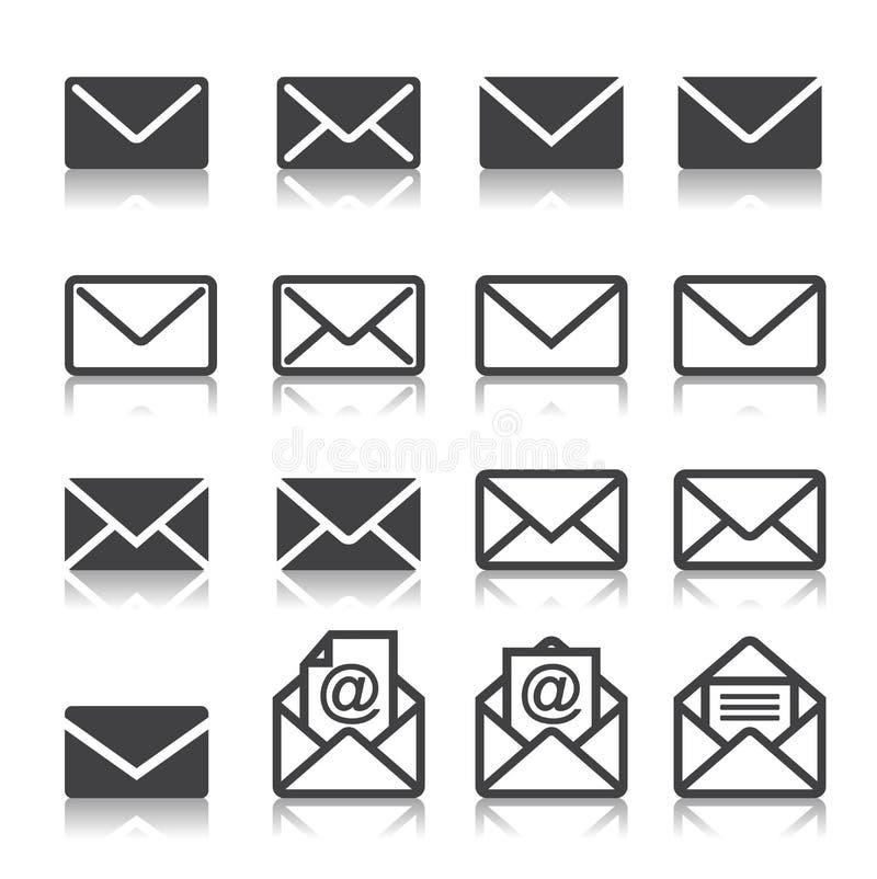 Mail icon set vector illustration