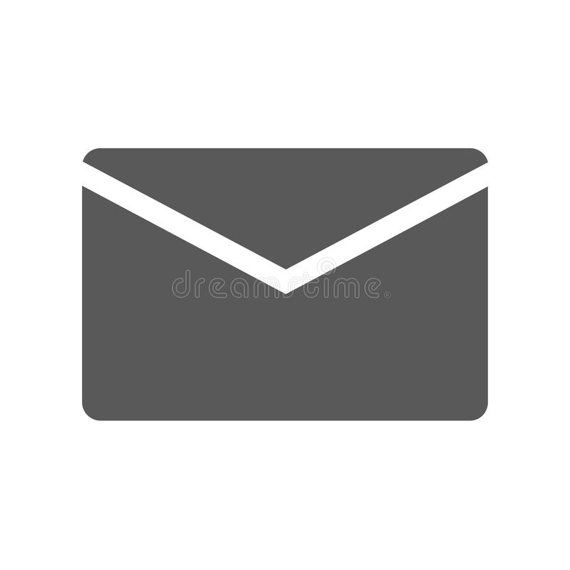 Mail icon simple. Mail icon. simple illustration of mail icon isolated on white background stock illustration