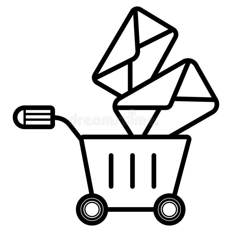 Mail icon vector. Illustration photo royalty free illustration