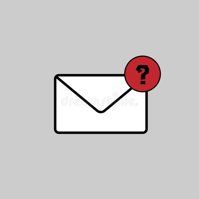 Mail icon vector art. Design isolated stock illustration