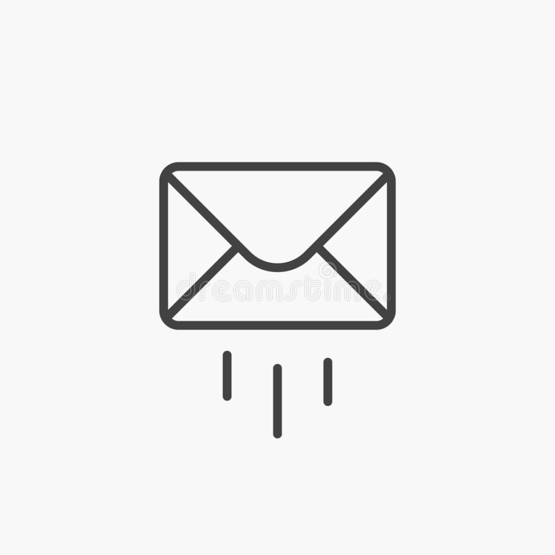 Outline Email Icon  Line Mail Symbol For Website Design
