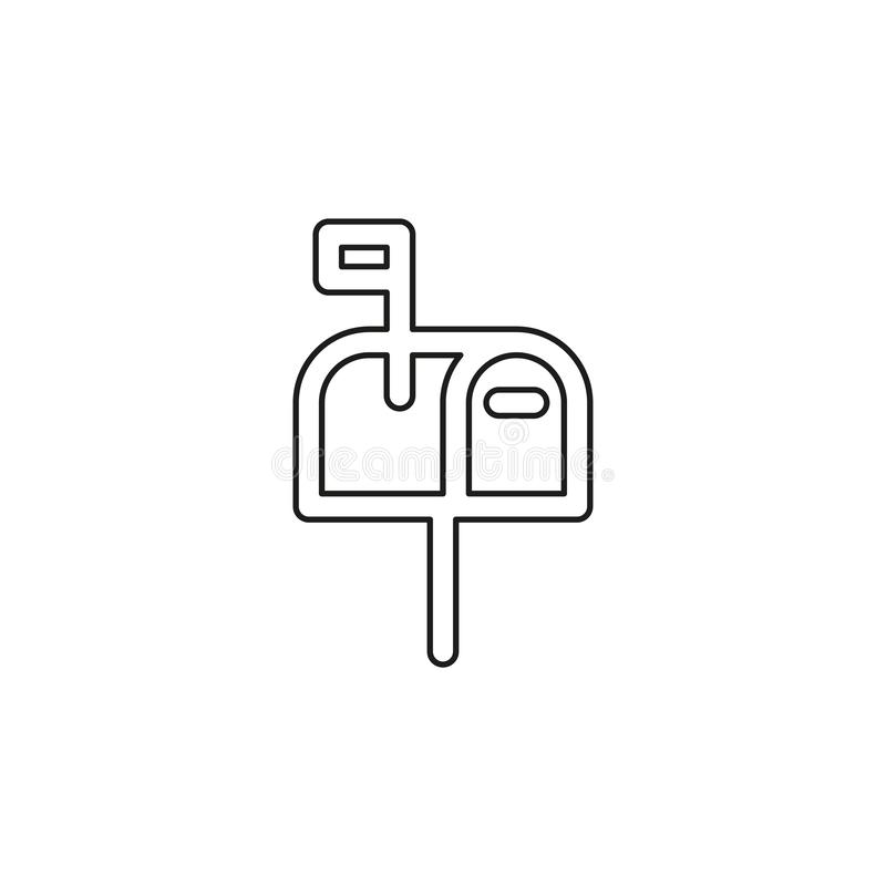 Mail icon - vector email icon - send message. Sign symbol. Thin line pictogram - outline editable stroke stock illustration