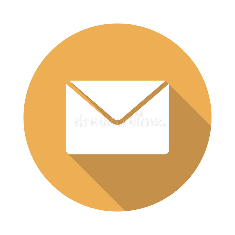 Mail icon. Vector Glyphs Shadow Icon stock illustration