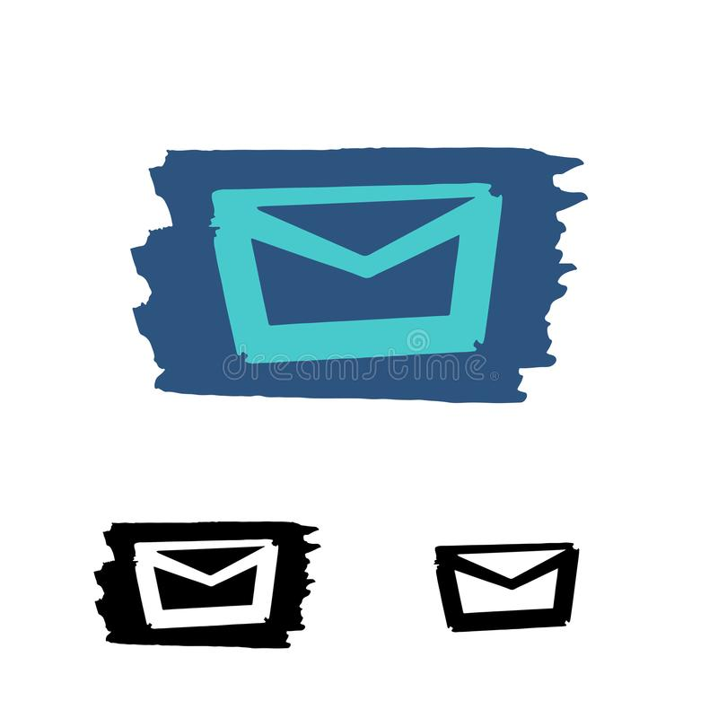 Mail icon. Vector stock image