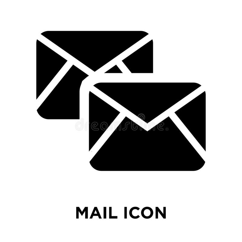 Mail icon vector isolated on white background, logo concept of M vector illustration