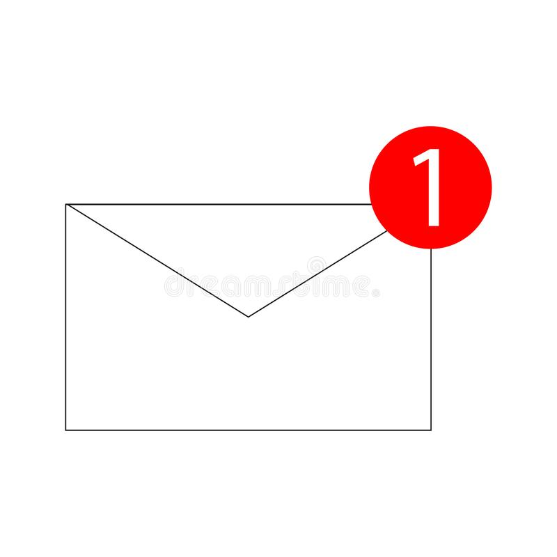 Mail icon vector isolated on white background. Trendy mail icon in flat style. Template for app, ui and logo. Icon mail vector illustration