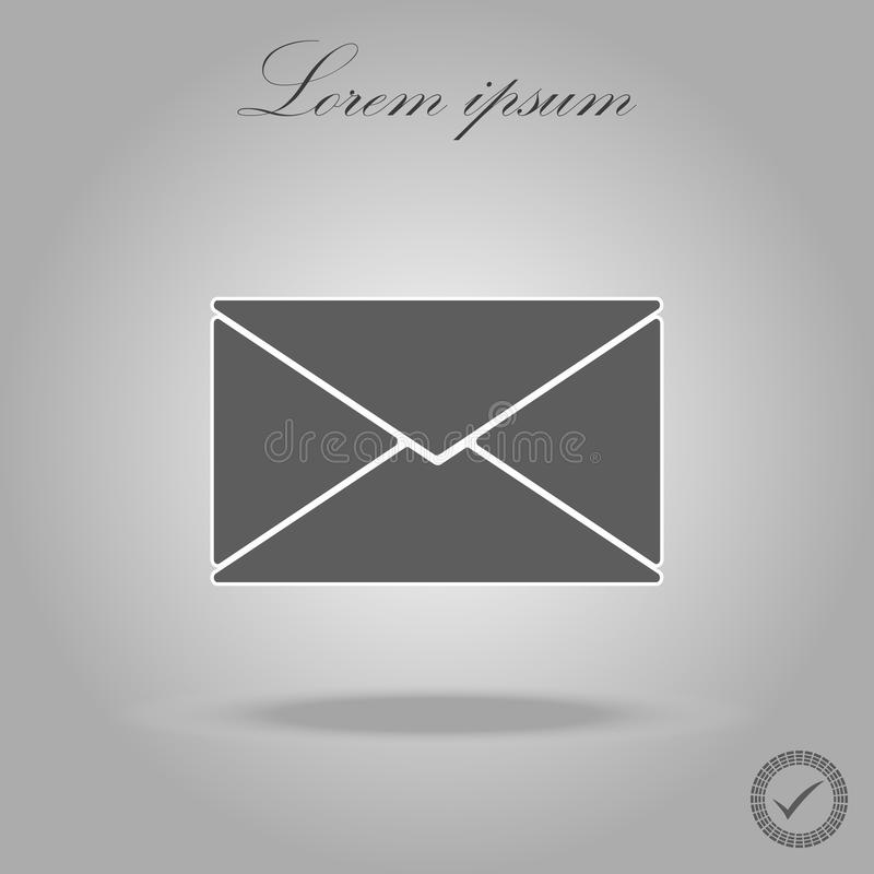 Mail icon vector. Trendy black style for graphic design, Web site, UI. Vector illustration royalty free illustration