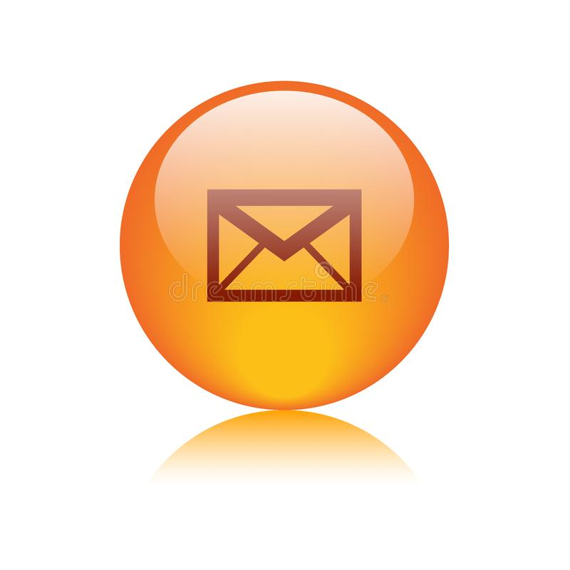 Mail icon web button round vector illustration