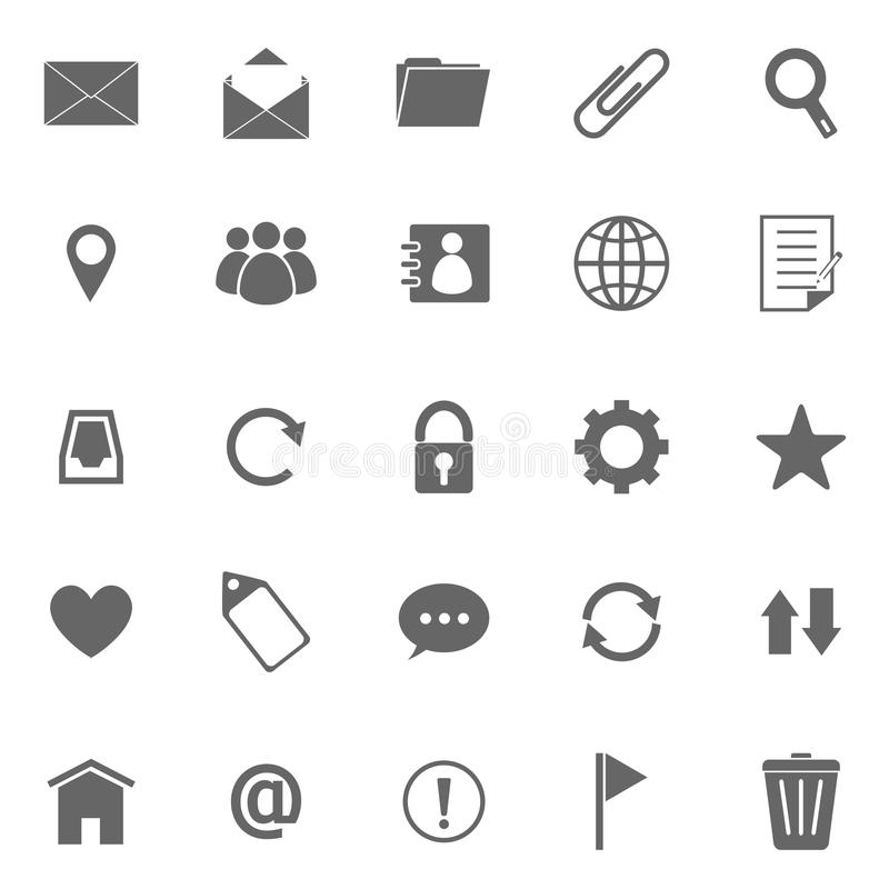 Download Mail Icons On White Background Stock Vector - Image: 34287991