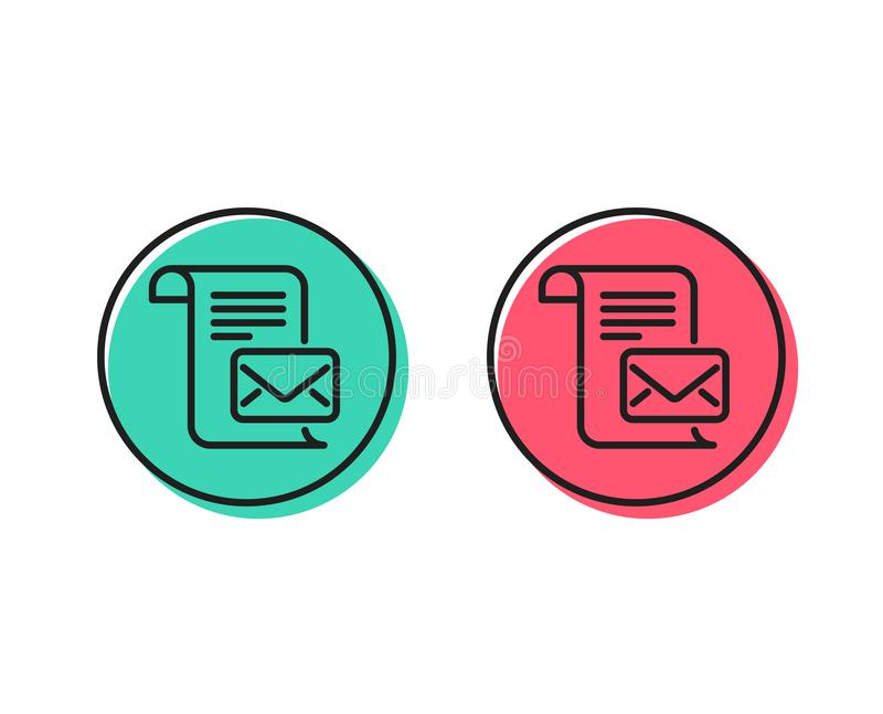 Mail letter line icon. Read Message correspondence sign. Vector. Mail letter line icon. Read Message correspondence sign. E-mail symbol. Positive and negative royalty free illustration