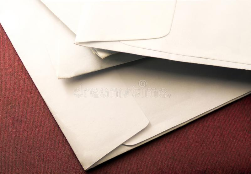 Mail letters. In the background stock image