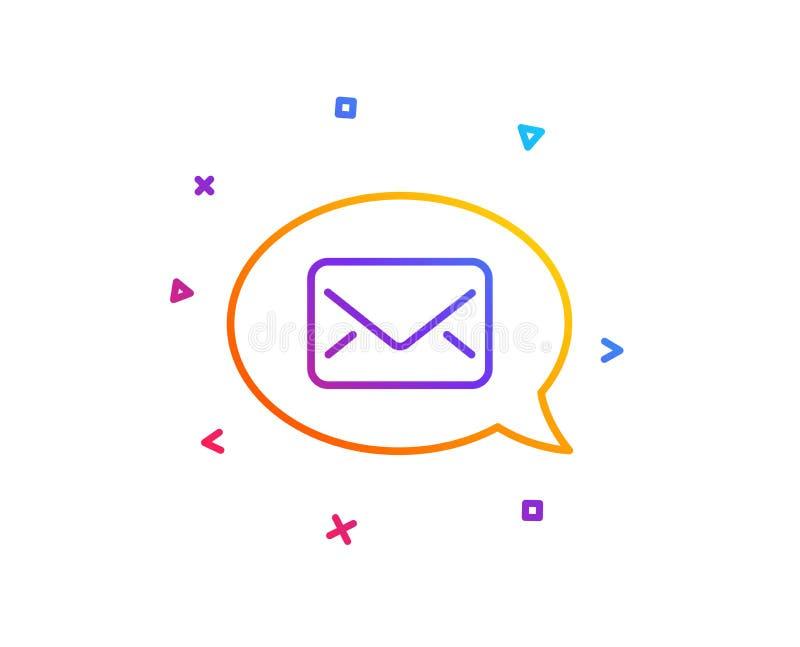 Mail line icon. Messenger communication sign. Vector. Mail line icon. Messenger communication sign. E-mail symbol. Gradient line button. Messenger icon design vector illustration