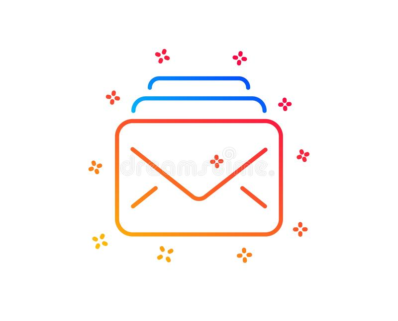 Mail line icon. New Messages correspondence sign. Vector. Mail line icon. New Messages correspondence sign. E-mail symbol. Gradient design elements. Linear mail stock illustration