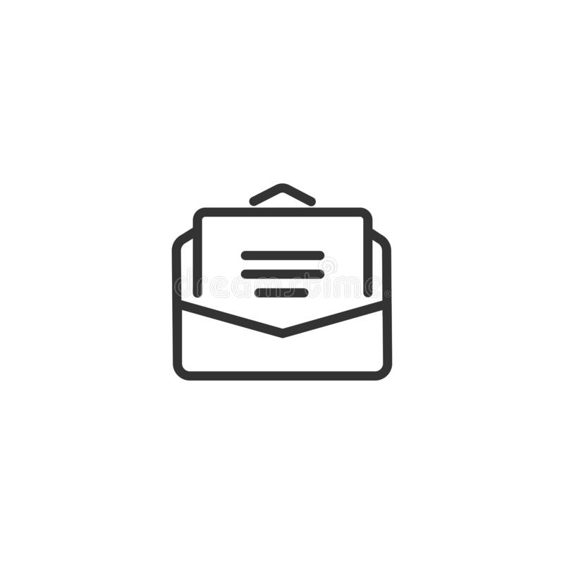 Mail line icon in simple design on a white background.  vector illustration