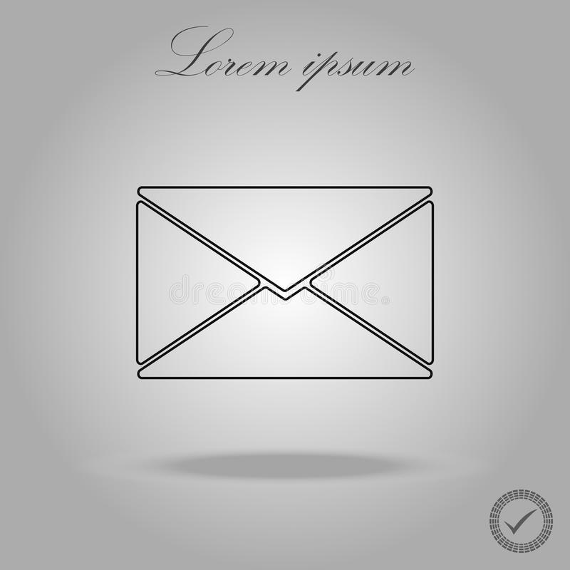 Mail Line icon vector. Trendy line style for graphic design, Web site, UI. Vector illustration royalty free illustration