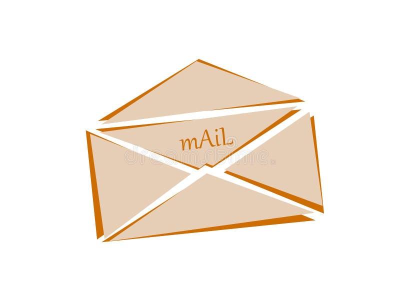 Mail. Logo-mail for postal services vector illustration