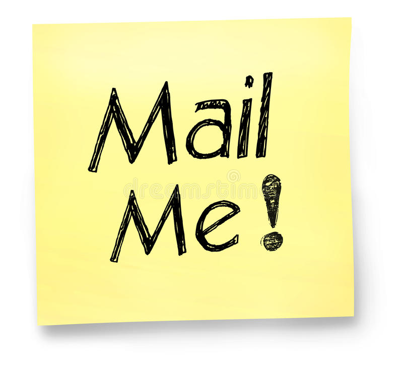 Mail Me Note Stock Images