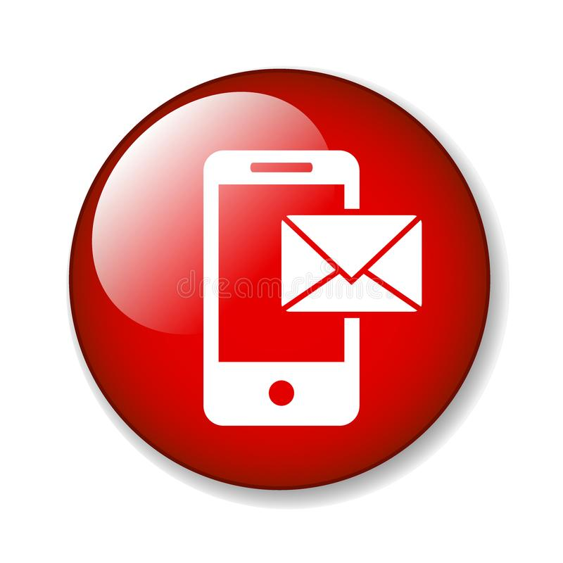 Mail on mobile icon vector illustration