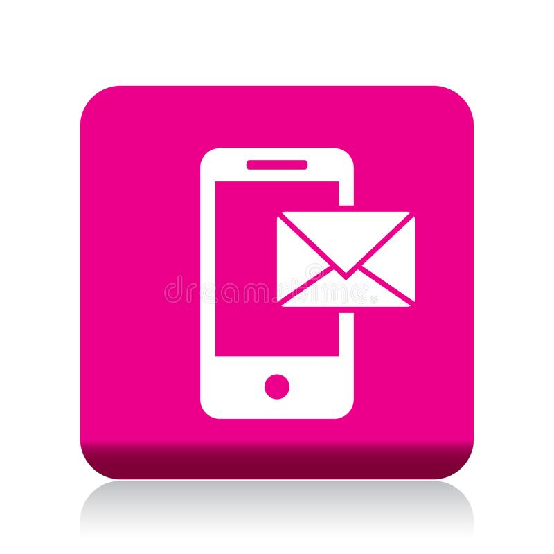 Mail on mobile icon royalty free illustration