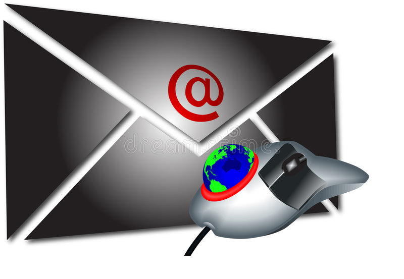 Mail and mouse1 stock illustration